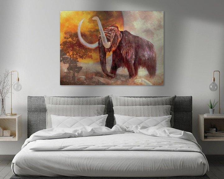Beispiel: Mammut in der Landschaft von Freddy Hoevers