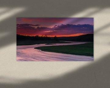 Madison River, Yellowstone NP, Wyoming, USA van Henk Meijer Photography