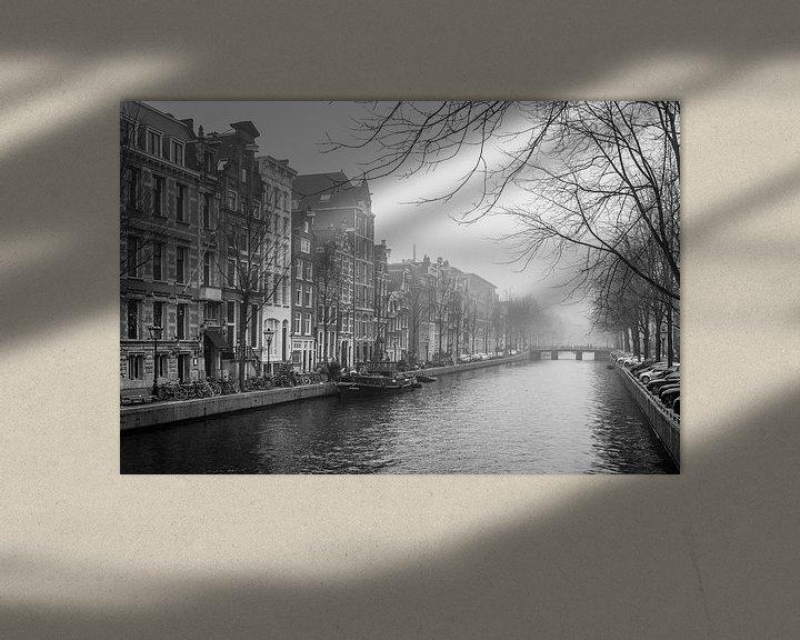 Sfeerimpressie: Mistig Amsterdam van Jeroen de Jongh