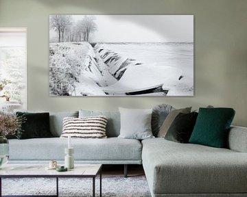 Winterlandschap met ijs van Dick Doorduin