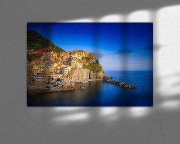 kustplaats Riomaggiore in de populaire streek Cinque Terre in Italië van gaps photography