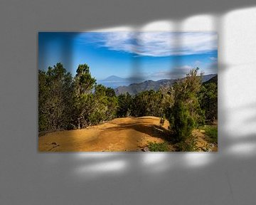 Uitzicht op El Teide vanuit Vallehermoso