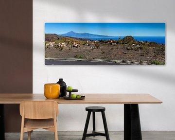 Zicht op El Teide vanuit het zuiden van La Gomera