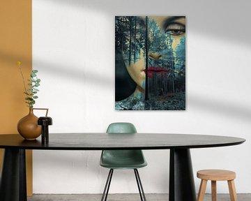 The secret face in the forest van Gabi Hampe