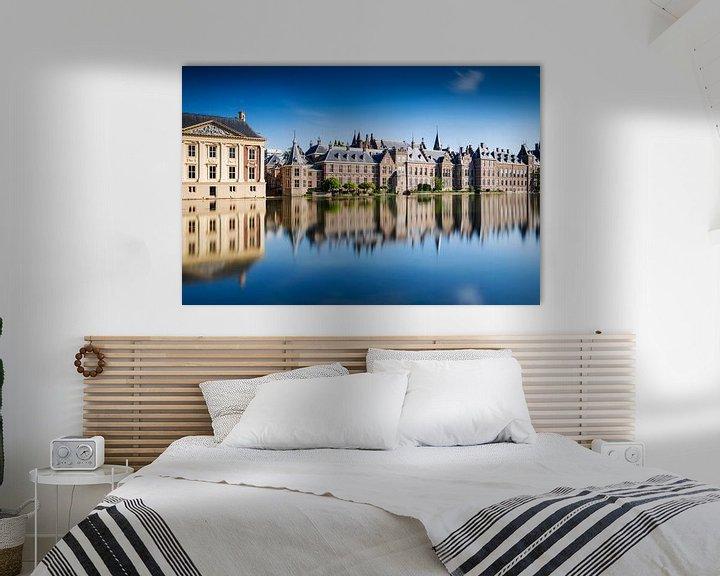 Sfeerimpressie: regeringsgebouwen aan de Hofvijver in Den Haag van gaps photography