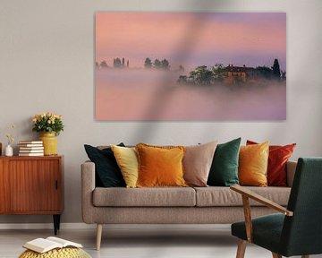 Villa im Nebel, Toskana