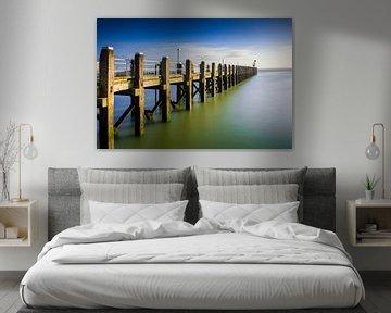 pier bij de haven van Vlissingen langs de Zeeuwse kust