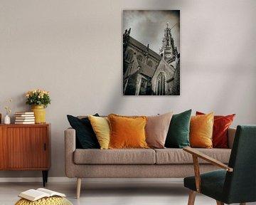 De vieringtoren van de Sint Bavokerk in Haarlem