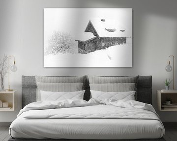 Sneeuwval in de Alpen van Lynxs Photography