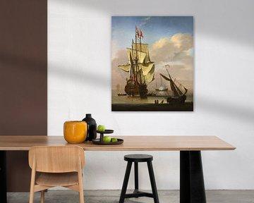 Ein englisches Kriegsschiff von Willem van de Velde d.J.