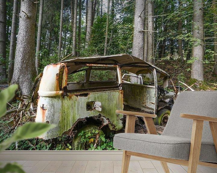 Beispiel fototapete: Ausgesetztes Auto 1 von Nancy Lamers