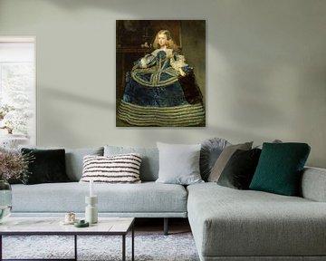 Infantin Margarita Teresa in einem blauen Kleid, Diego Velázquez