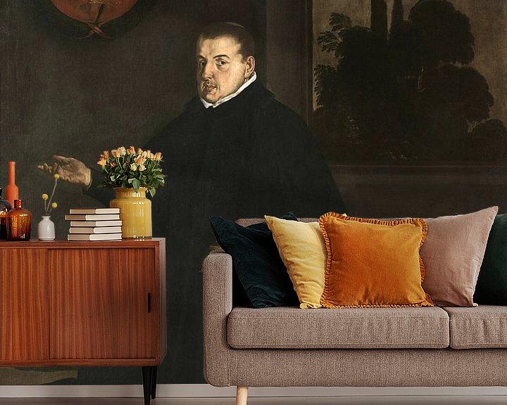 Beispiel fototapete: Porträt von Cristóbal Suárez de Ribera, Diego Velázquez