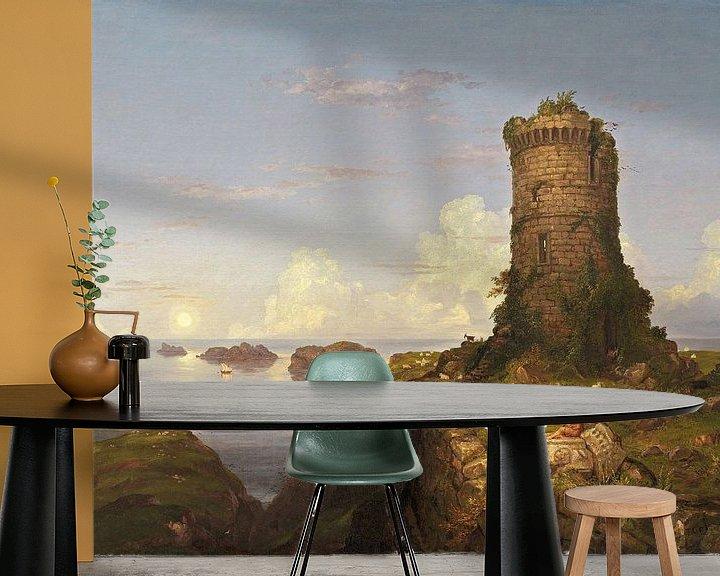 Beispiel fototapete: Italienische Küstenszene mit Turmruine, Thomas Cole