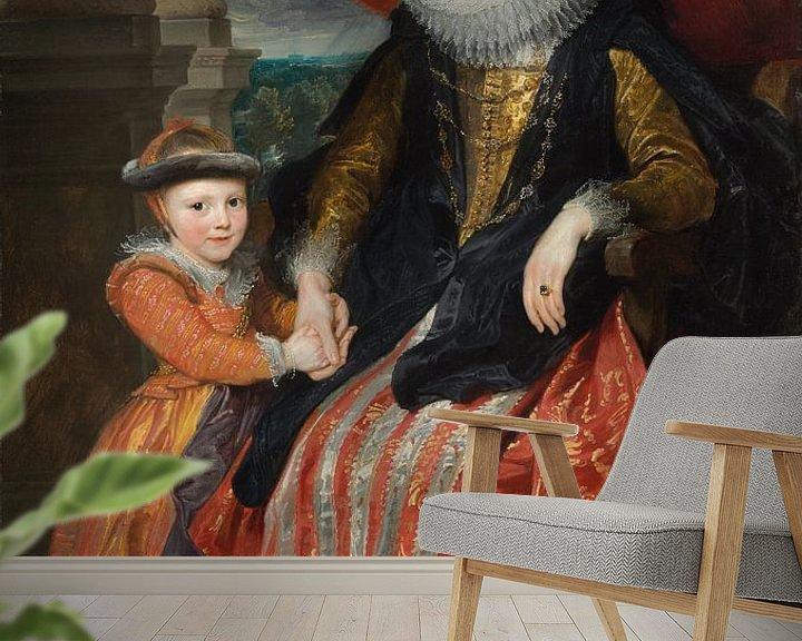 Beispiel fototapete: Susanna Fourment und ihre Tochter, Antoon van Dyck