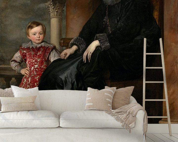 Beispiel fototapete: Genuesische Adelige und ihr Sohn, Antoon van Dyck