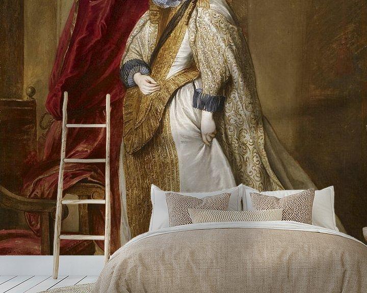 Beispiel fototapete: Genuesische Adelige, Antoon van Dyck