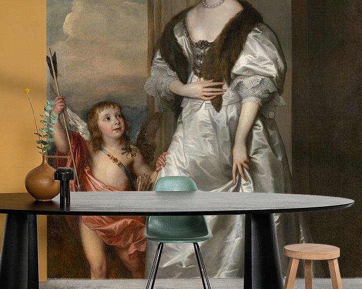 Beispiel fototapete: Lady Mary Villiers mit Charles Hamilton, Antoon van Dyck