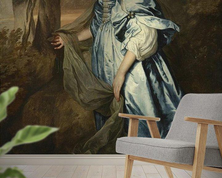 Beispiel fototapete: Lady Anne Carey, spätere Vicomte Claneboye und Gräfin von Clanbrassil, Antoon van Dyck