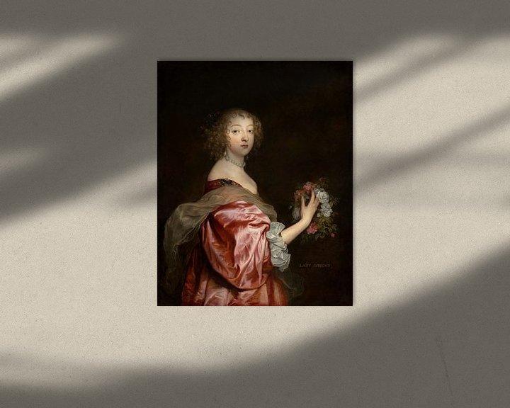 Beispiel: Catherine Howard, Lady d'Aubigny, Antoon van Dyck