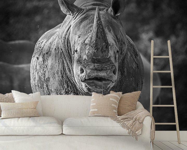 Beispiel fototapete: Nashorn von Jaap Tempelman