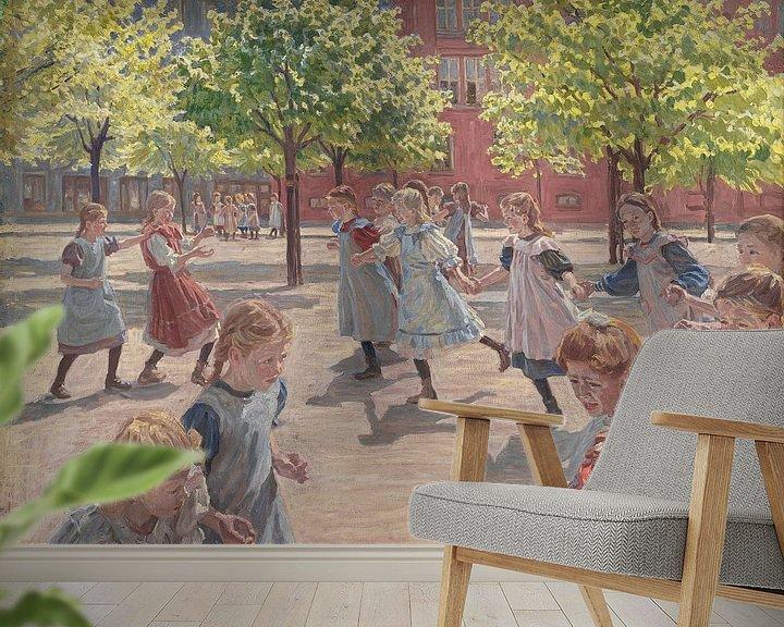 Beispiel fototapete: Spielende Kinder, Peter Marius Hansen