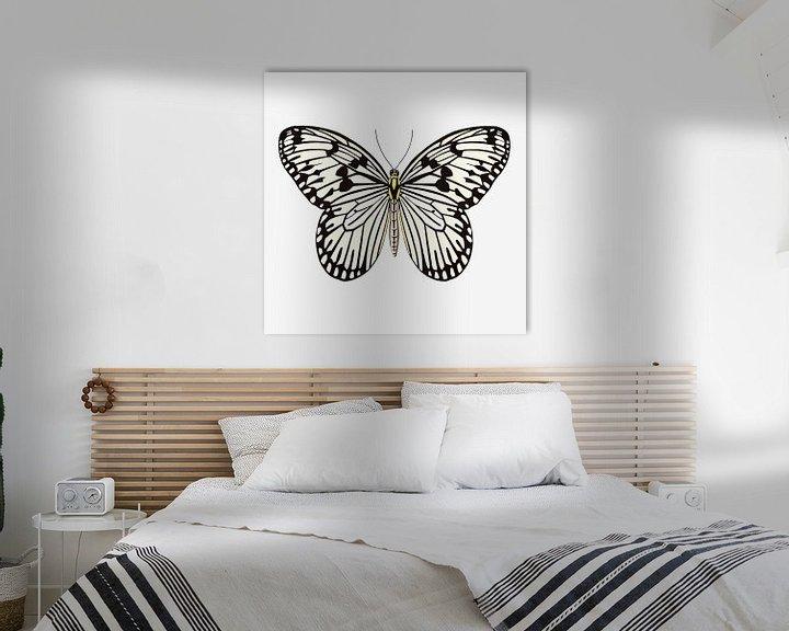 Beispiel: Schmetterling schwarz-weiß von Jole Art (Annejole Jacobs - de Jongh)