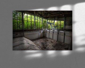 Tschernobyl, Azurblaues Schwimmbad von Rene Kuipers