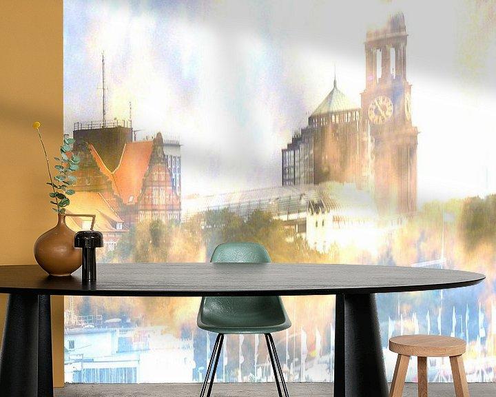 Sfeerimpressie behang: Michel abstract van Peter Norden
