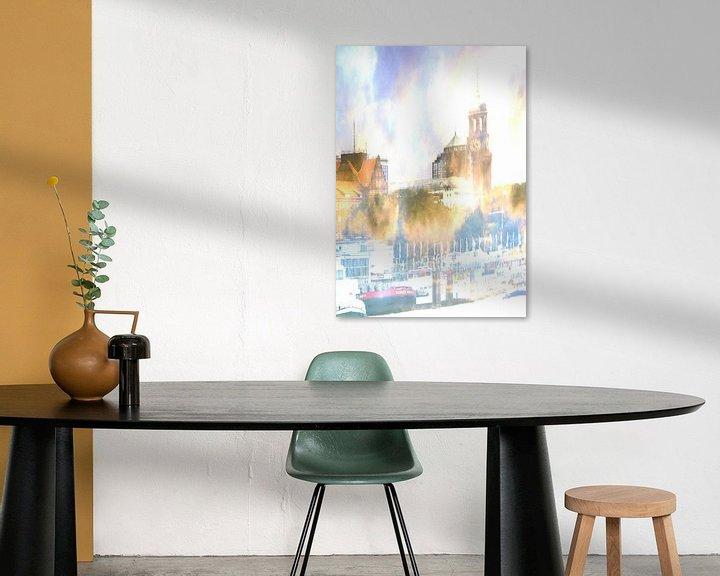 Sfeerimpressie: Michel abstract van Peter Norden