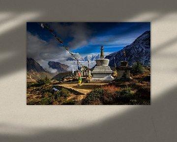 Stupa au Népal sur Jürgen Wiesler
