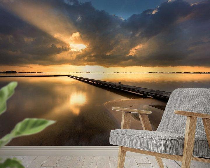 Sfeerimpressie behang: Light after the Storm - Schildmeer, The Netherlands van Bas Meelker