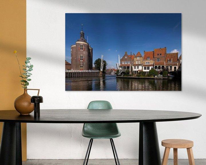 Sfeerimpressie: Enkhuizen met Drommedaris van Elly van Veen