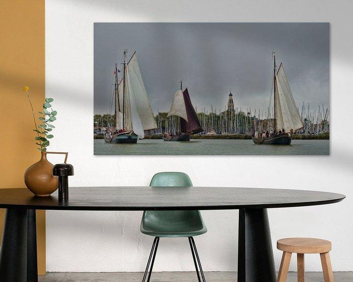Sfeerimpressie: Enkhuizen van Elly van Veen