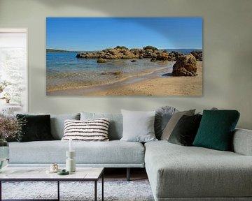 Kleine baai op Sardinië van Claudia Moeckel