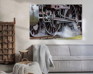 Dampflokdetail von Uwe Ulrich Grün