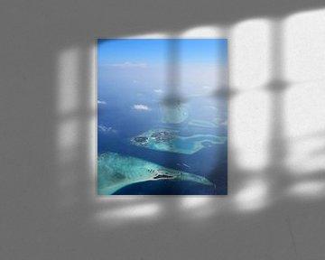 Malediven Aerial View van Jacky Gerritsen