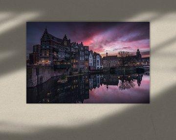 Delfshaven Rotterdam Sonnenaufgang von Vincent Fennis