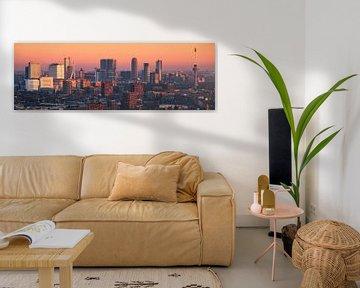 Panorama Rotterdam Skyline von den LEE-Türmen 3:1 von Vincent Fennis