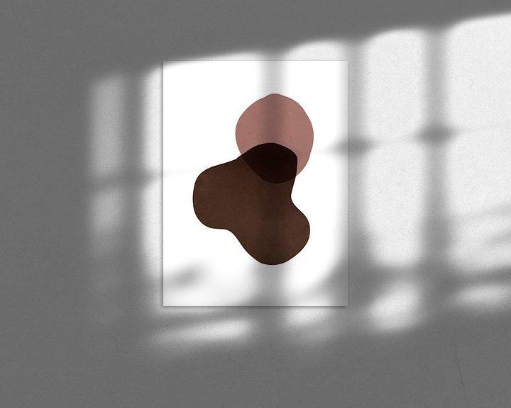 Impression: Formes abstraites en couleurs chaudes Imprimer sur MDRN HOME