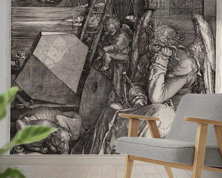 Sfeerimpressie behang: Melencolia I, Albrecht Dürer van De Canon