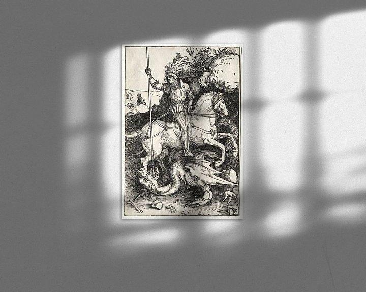 Sfeerimpressie: Sint Joris en de draak, Albrecht Dürer van De Canon