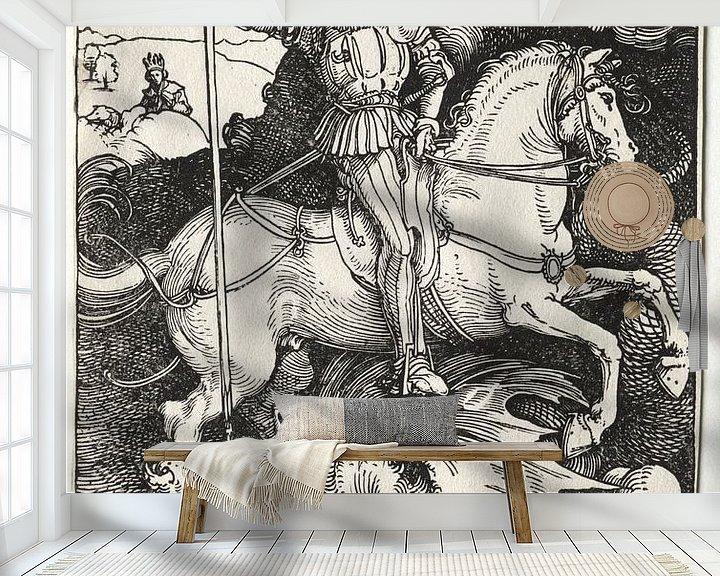 Sfeerimpressie behang: Sint Joris en de draak, Albrecht Dürer van De Canon