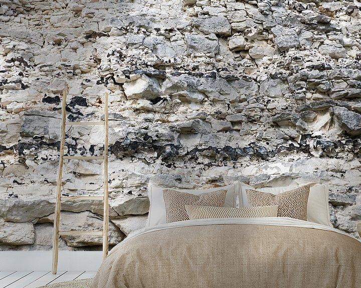 Sfeerimpressie behang: krijtrotsen in Denemarken van Hanneke Luit