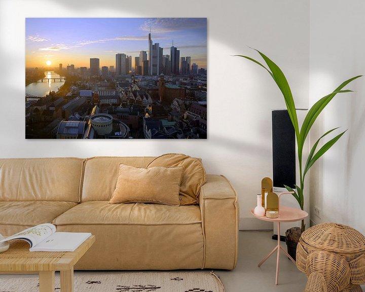Beispiel: Frankfurt im Sonnenuntergang von Patrick Lohmüller