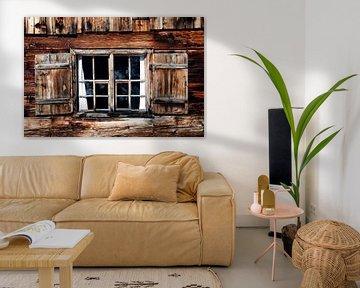 oud houten venster van Jürgen Wiesler