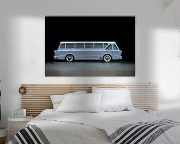 Nahaufnahme einer Miniatur Leyland Royal Tiger Coach von Jenco van Zalk