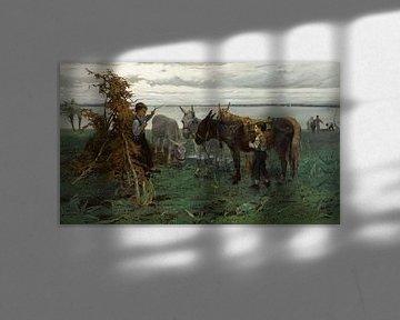 Jungen hüten Esel, William Maris