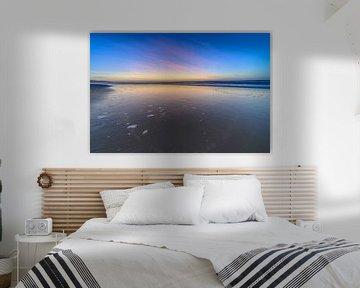 zonsondergang op het strand van Michel Knikker