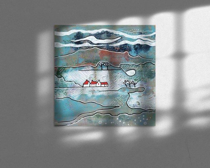 Beispiel: Saisonale Landschaft - Winter von Ariadna de Raadt-Goldberg
